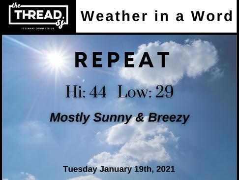 Tuesday, January 19th, 2021