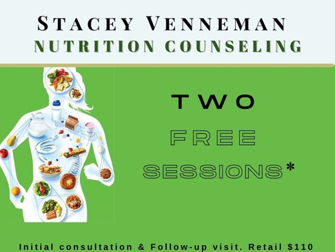 Day 3 Giveaway: Stacey Venneman Nutrition Counseling