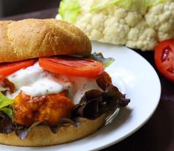 cauliflower buffalo sandwich