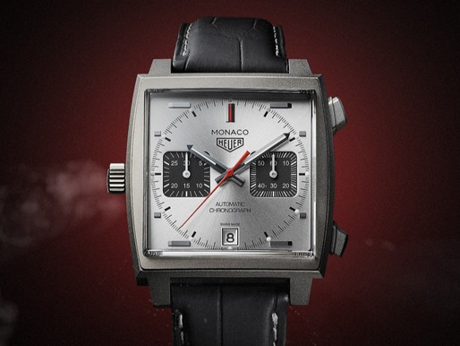 【重現經典】TAG HEUER Monaco 鈦金屬特別版 左面錶冠破格設計