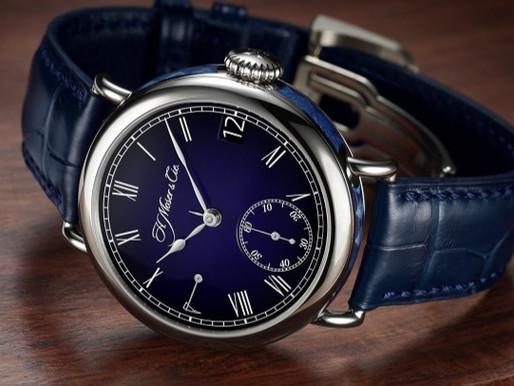 【極罕工藝傑作】H.MOSER & CIE 萬年曆午夜藍琺瑯腕錶