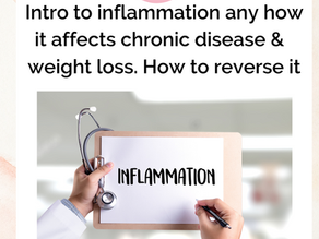 Intro to inflammation any how it affects chronic disease weight loss. How to reverse it