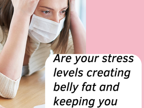 Are your stress levels creating belly fat and keeping you from losing weight when you are eating?