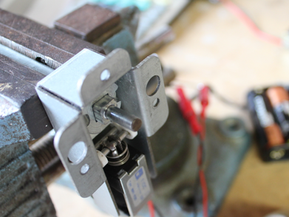 Battery operated solenoid mechanism