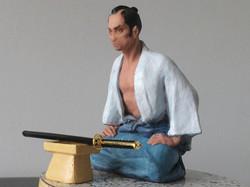A moment  of reflecting. samurai