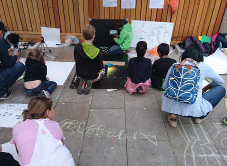 Stop motion animation station (moments from The Big Draw  festival in Epsom
