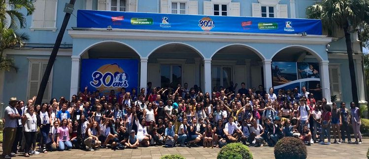 Les participants du séjour anniversaire du CDJ de La réunion ©Anacej