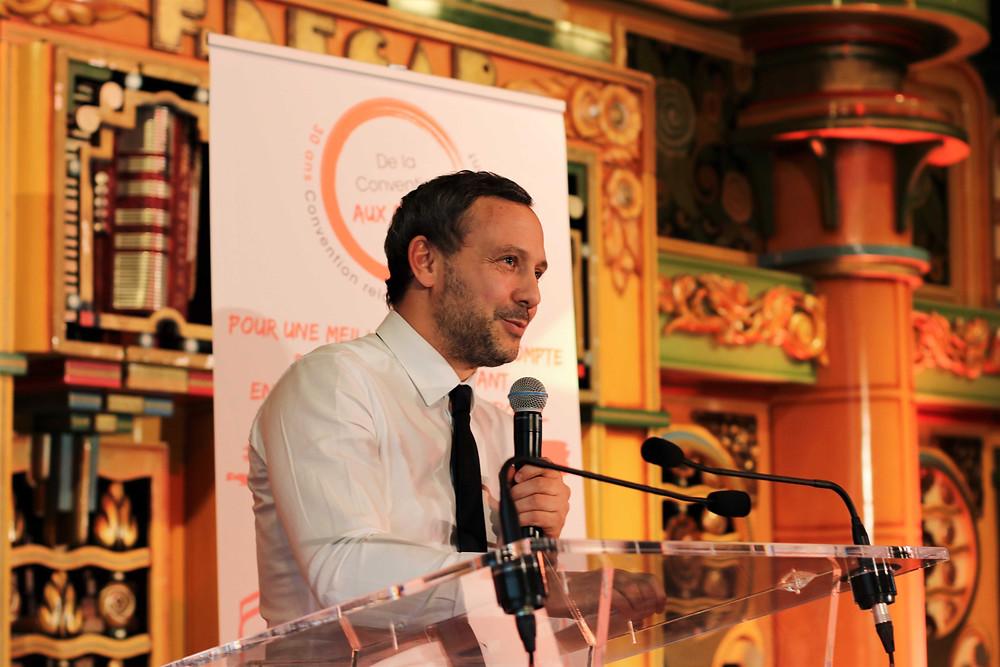 Adrien Taquet, Secrétaire d'Etat en charge de la Protection de l'enfance était présent pour recevoir les propositions de la Dynamique ©Elodie Estève