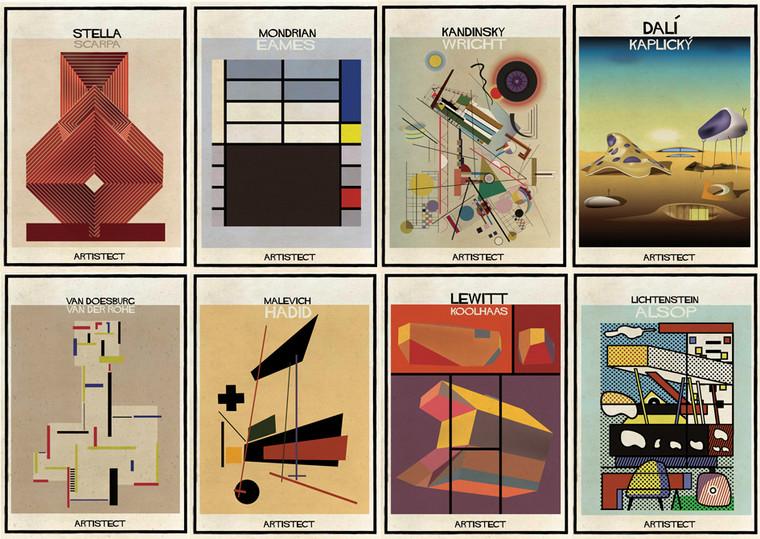 ARTISTECT: Pinturas famosas com detalhes arquitetônicos