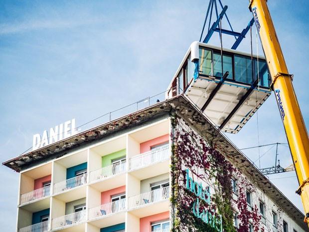 Hotel instala suíte de luxo no telhado