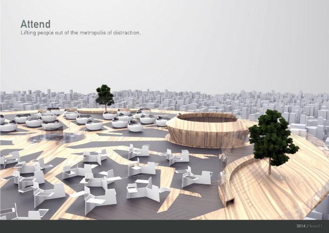 Designers projetam escritório do futuro para combater distração