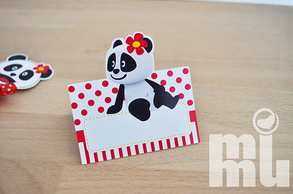 MA005 - 6 Marcadores Mesa Panda Menina RED