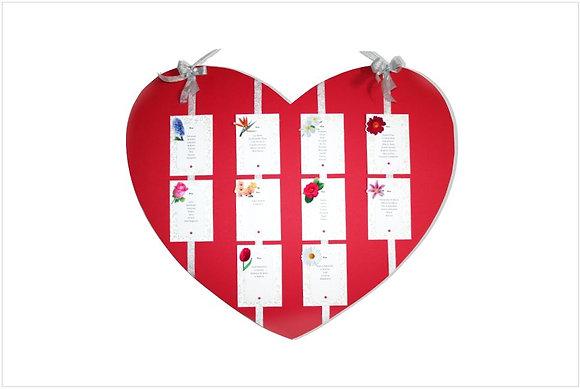 Z009: 1un Placard Casamento Coração Shirin