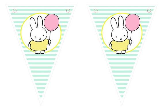 BP034T: TOPOS Bandeirinhas de parede Miffy