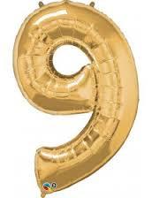 BF001_Balão Foil numero Dourado (86cm)