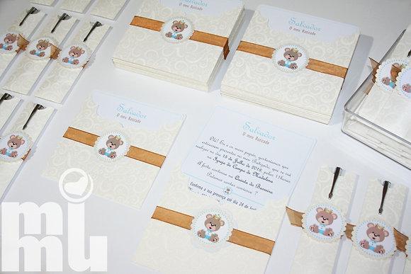 I068: 1 Convite Royal Urso