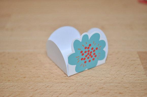 D016: Forminhas p/ doces flor azul