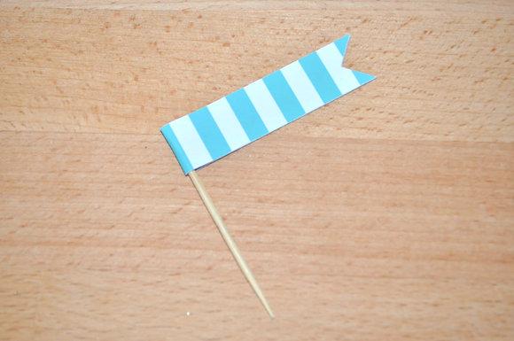 B033 - 6 Bandeirinhas Primavera - Azul