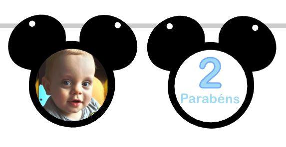 BP016: Bandeirola Personalizavel Mickey