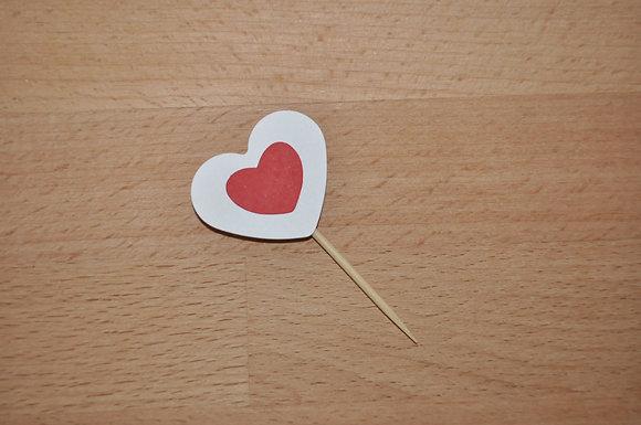 T042 - 6 Topper Coração