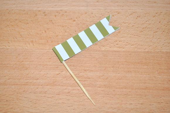 B031 - 6 Bandeirinhas Primavera - Verde