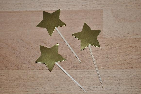 T068: 6 Topperes estrela dourada principezinho