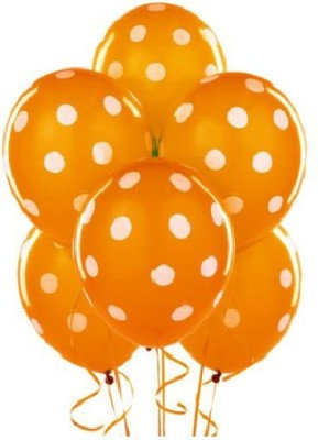 BL006: 1un Balões de Latex PINTAS - LARANJA