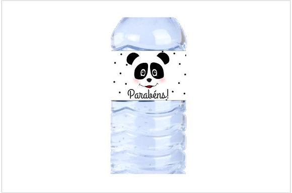 SU015: 1un Rótulo garrafa peq Panda B&W