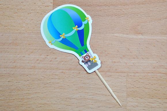 T016 - 6 Topper Balão Verde