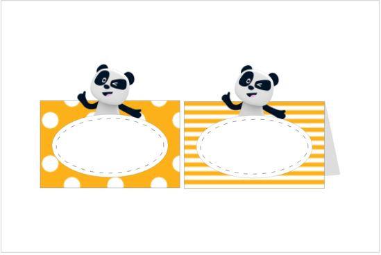 MA052: 6un Marcador Panda Laranja