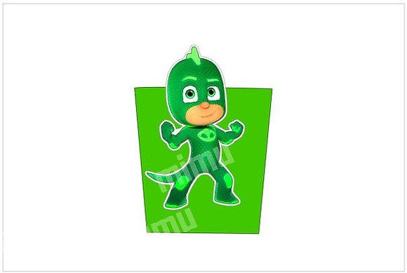 P051: 1 Pacote Pipocas 3D Pj Masks_ Verde