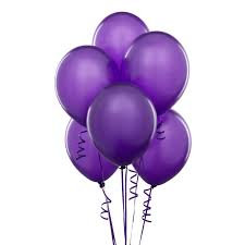 BS007: 1un Balões de Latex SIMPLES - Roxo