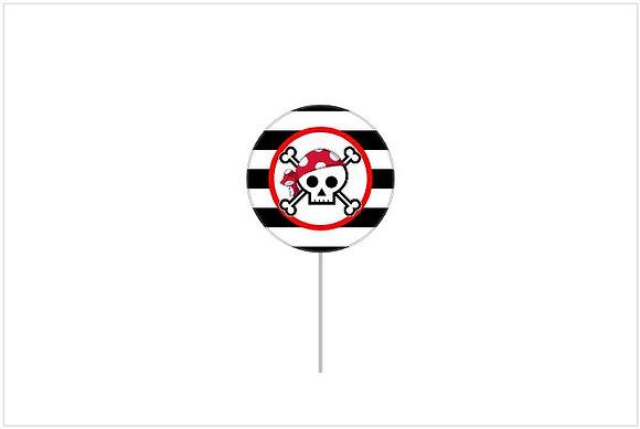 T010: 6 Topper Pirata Redondo