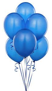 BS005: 1un Balões de Latex SIMPLES - Azul Forte