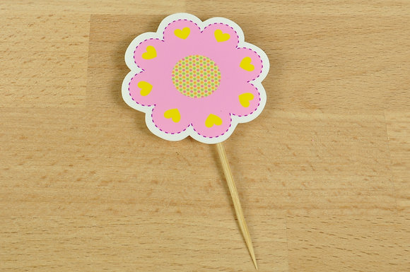 T002 - 6 Topper Flor Simples