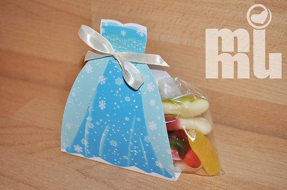 M008 - 1 Vestido Frozen c/ gomas p/ ofertas