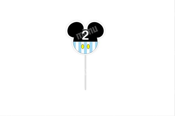 T045: 6 Topper Mickey Cabeça