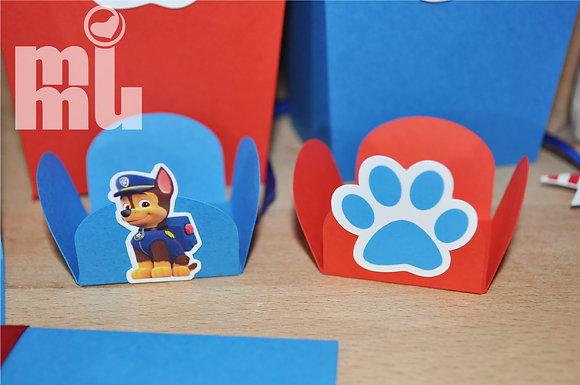 D035: Forminha p/ doces PAW-Azul&Vermelho