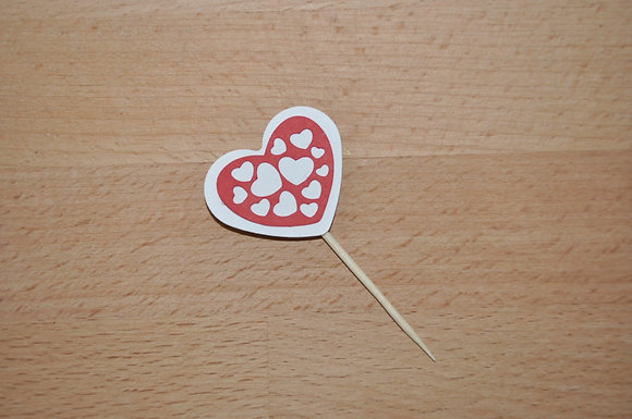 T040 - 6 Topper Coração