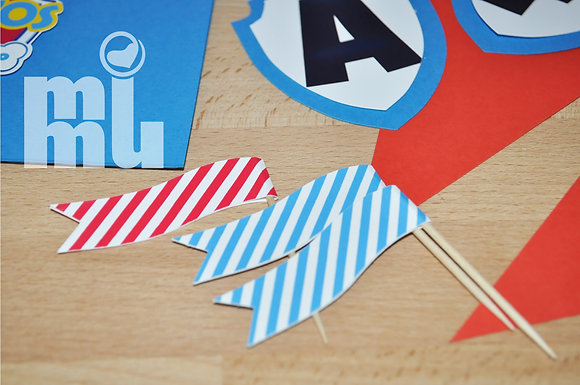 B083: Seis Bandeirinhas PAW_azul forte