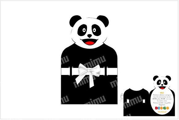 I035: 1un Convite Panda preto