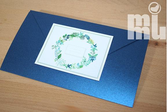 I052 - Convite Navy flower