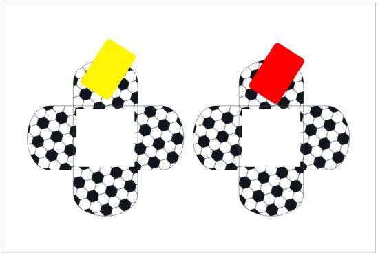 D001: Forminhas p/ doces Futebol