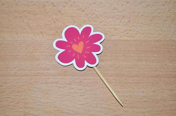 T036 - 6 Topper Flor Simples