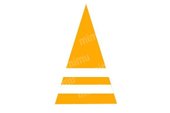 M003: Cone c/ gomas - corridas