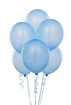 BS004: 1un Balões de Latex SIMPLES - Azul Bebé