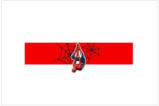 SU019: 1un Rótulo pequeno - Homem Aranha