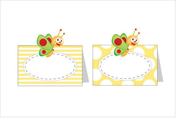 MA054: 6 Marcador Mesa BabyTV amarelo