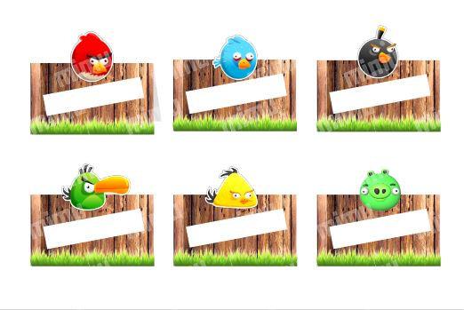 MA032: 6 Marcador Mesa Angry birds