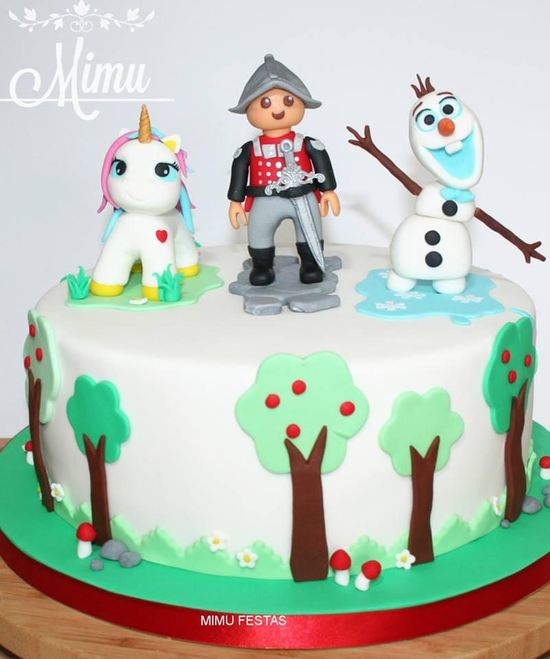 Bolo Unicórnio - Playmobil - Olaf